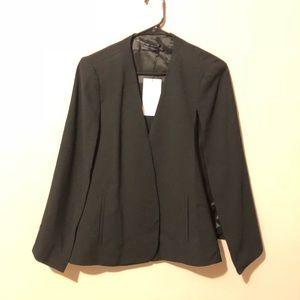 NWT Zara black cape style blazer